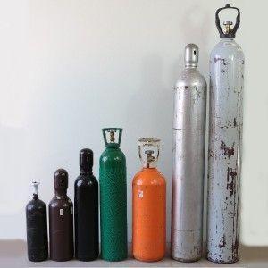 exemplos de tamanhos de cilindros para gases