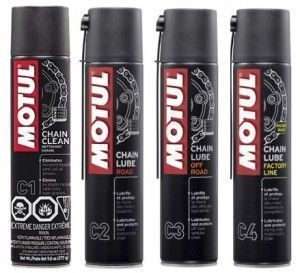 Produtos Motul para correntes de motos